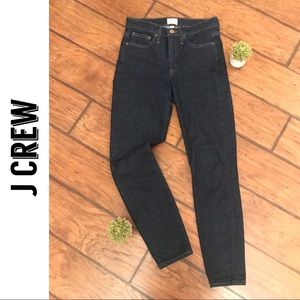 "J Crew 9"" High-Rise Toothpick Skinny Jeans"